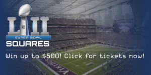 Super Bowl Squares – Win $500!
